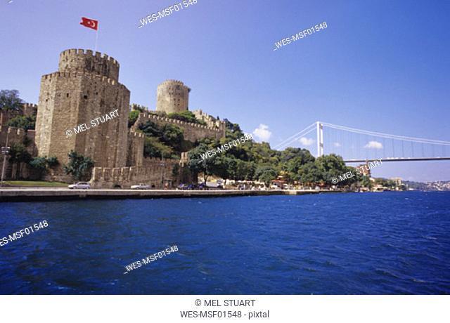 Istanbul,Rumeli Hisari Castle and Bosporus Bridge, Turkey