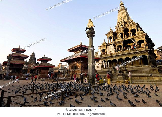 Nepal, Kathmandu Valley, listed World Heritage by UNESCO, Patan, ancient royal city, Durbar Square (archives)