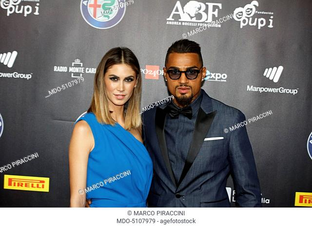 Italian showgirl Melissa Satta and German-born Ghanaian footballer Kevin-Prince Boateng, who plays for Italian club Milan
