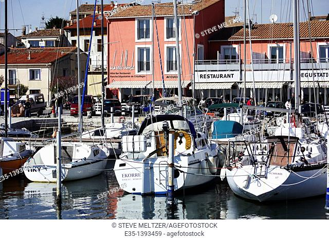 The town of Bouzigues on the Bassin de Thau is known for its oysters and mussels. It is a favorite dining town for people from Montpellier, France