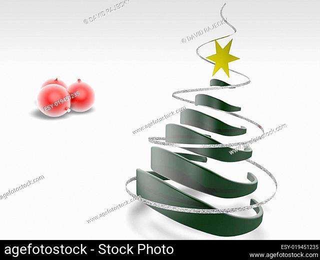 Christmas tree with christmas ball