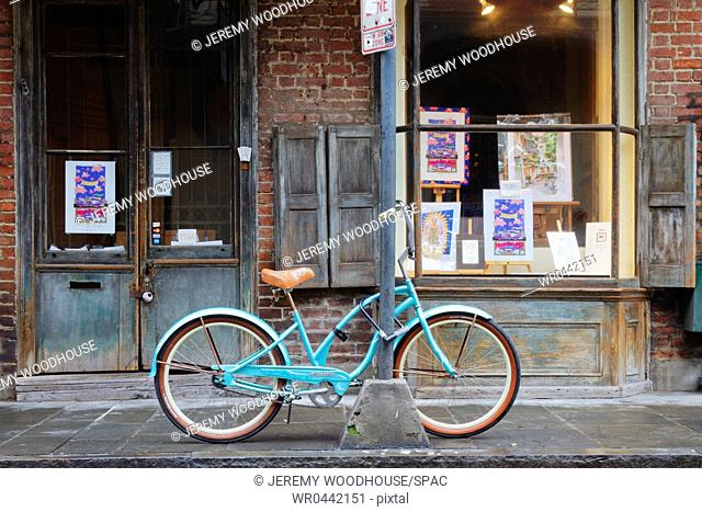 Bicycle in Front of a Storefront
