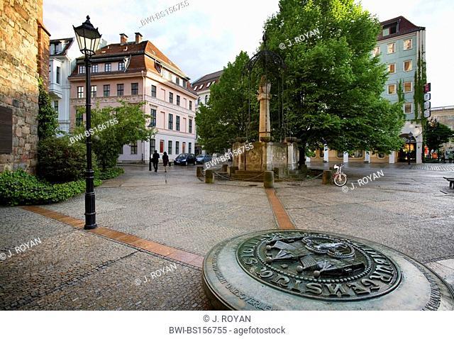 square at Nikolai Quarter, Germany, Berlin