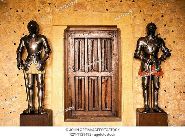 Knight in suit of armor, Alcazar, Segovia, Spain