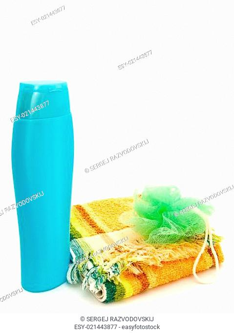 Plastic Bottle And Towel