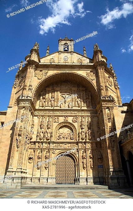 Facade, Saint Stephen's Convent, Salamanca, UNESCO World Heritage Site, Spain