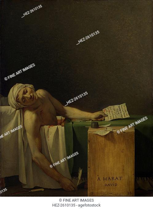 The Death of Marat, 1793. Artist: David, Jacques Louis (1748-1825)