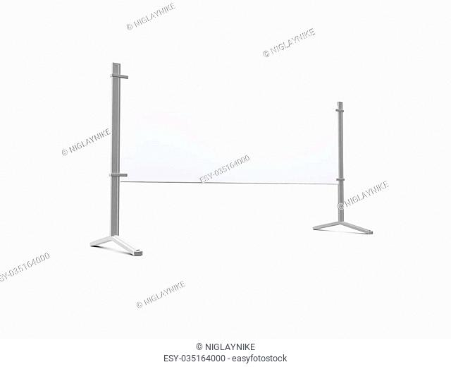 Road barrier or billboard, isolated on white background