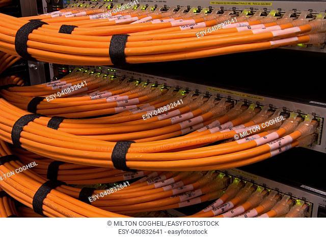 Network Hub and Fibre Cables
