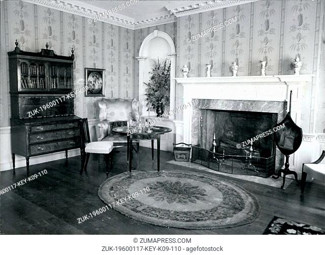 Jan 17, 1960 - Baltimore, Maryland, U.S. - The Deer Park parlor from Baltimore County, Maryland features a characteristically large fire place opening around...