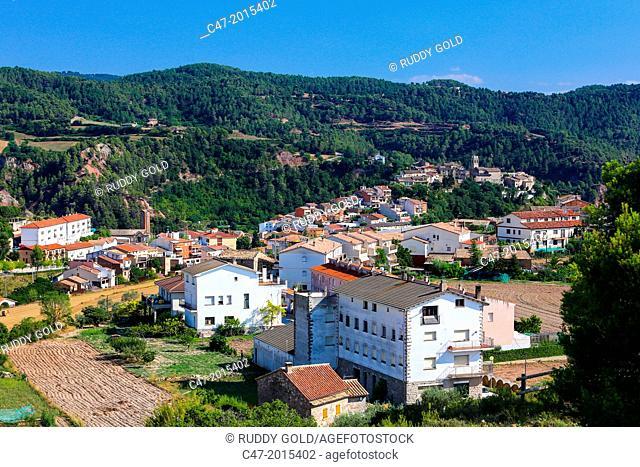 Santa María d'Oló, Bages area, Barcelona province, Catalonia, Spain