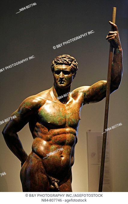 The bronze statue of a Hellenistic prince, Palazzo Massimo alle Terme, National Museum of Rome, Italy