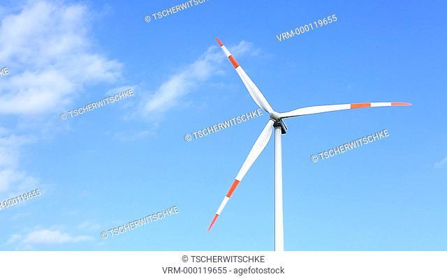 Windmill, Brandenburg, Germany, Europe, Timelapse Video