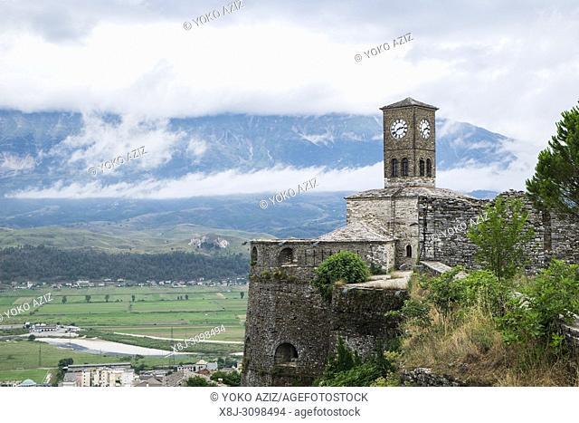 Albania, Gjirokaster, local castle