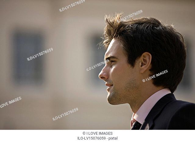 Portrait of a businessman outdoors