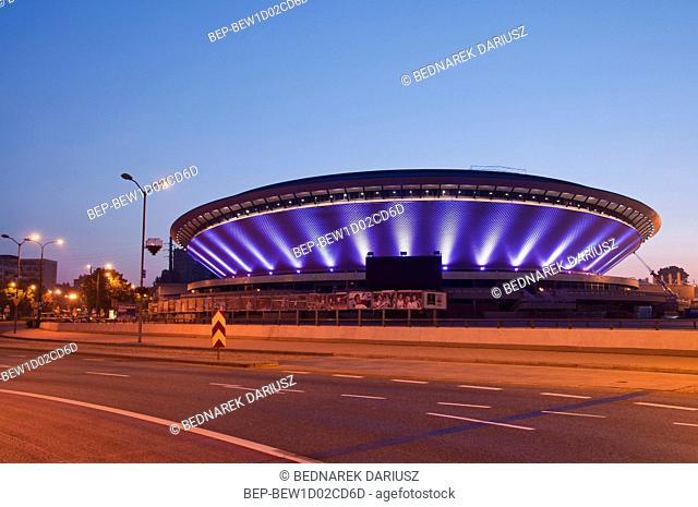 Multipurpose arena complex called `Spodek`. Katowice, Silesian Voivodeship, Poland