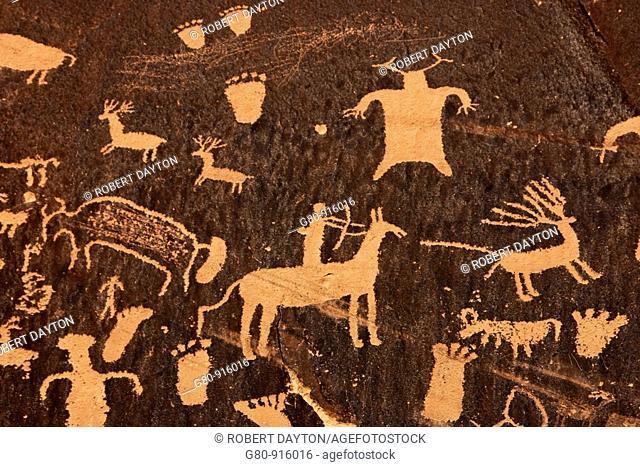 American Indian rock art in Canyonlands NP, Utah