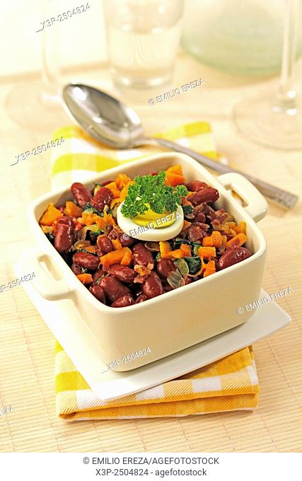 Red beans with vegetables