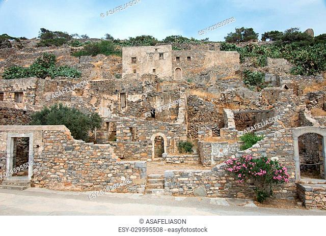 Abandoned leper colony, Spinalonga Fortress, Crete Greece