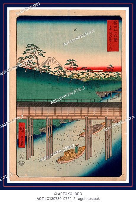 Toto ochanomizu, Ochanomizu in the eastern capitol., Ando, Hiroshige, 1797-1858, artist, [Tokyo] : Tsuta-ya Kichizo, 1858