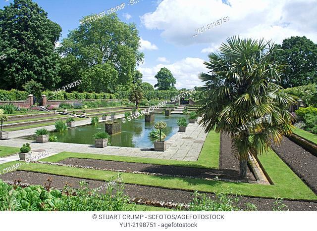 The Sunken Garden at Kensington Palace