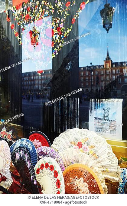 Souvenir shop  Plaza Mayor  Madrid  Spain