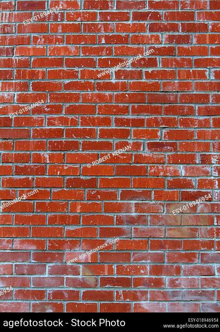 Lots of red bricks wall