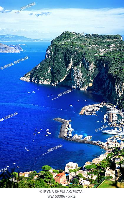 Marina Grande, Island Capri, Campania, Gulf of Naples, Italy