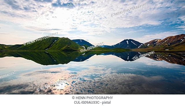 Reflection lake in Icelandic highlands, Iceland