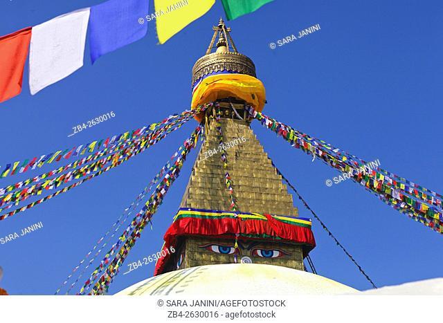 Boudhanath stupa, Kathmandu, Nepal, Asia