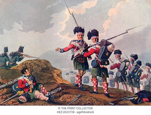 'Bravery of a Piper of the 11th Highland Regiment, at the Battle of Vimiera', c1820 (1909). After Franz Joseph Manskirch (1768-1830)
