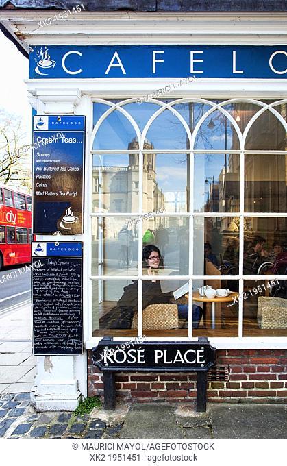 UK, England, Oxford, Coffee shop