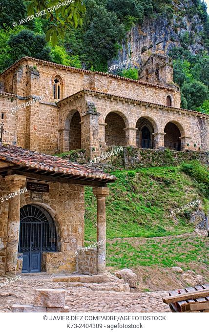 Romanesque Chapel of Santa María de la Hoz (12th Century). Tobera. Frías. Burgos province. Castilla y Leon. Spain