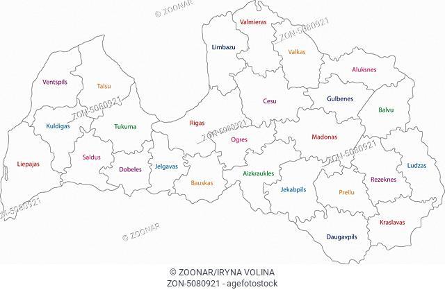 Outline Latvia map