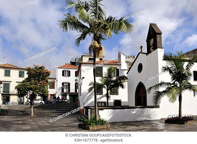 square and chapel Corpo-Santo in the old town, Funchal, Madeira island, Atlantic Ocean, Portugal