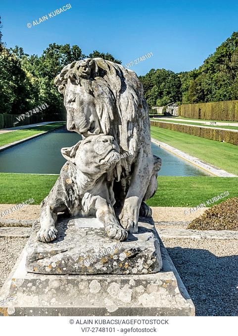 Vaux-le-Vicomte's Gardens, Maincy, Seine et Marne, France