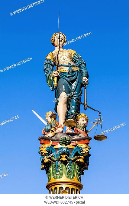 Switzerland, Bern, fountain of justice