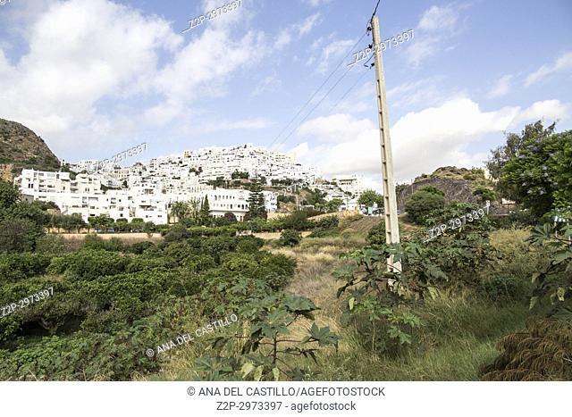 Mojacar white village in Almeria, Andalusia, Spain on September 16, 2017
