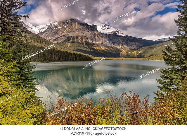 "Emerald Lake in Fall Yoho National Park British Columbia Canada. """"It is the largest of Yoho's 61 lakes and ponds, as well as one of the park's premier tourist..."