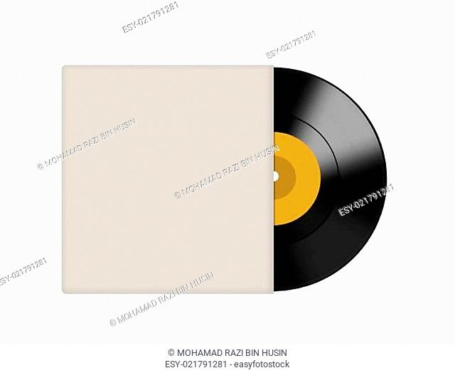 Vinyl record with blank cover