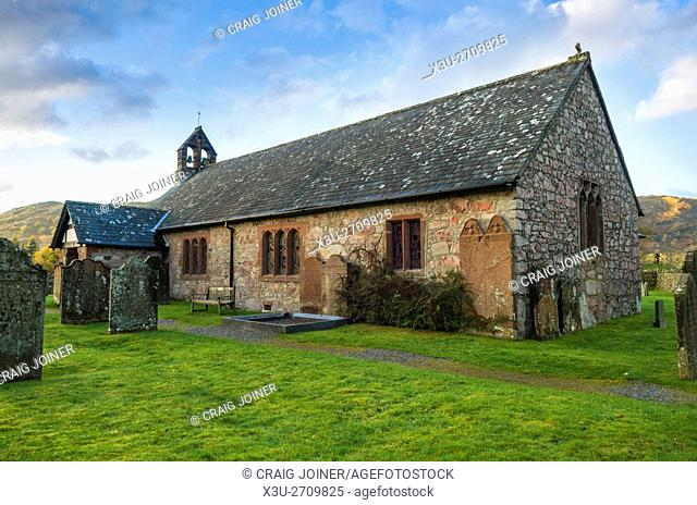 St Catherine's Church at Boot in the Eskdale valley in the Lake District National Park, Cumbria, England
