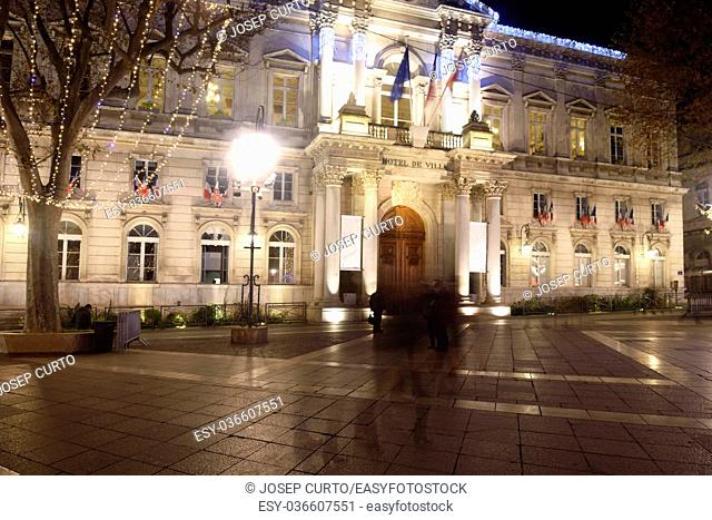 Christmas in the historic center of Avignon, Provence, France