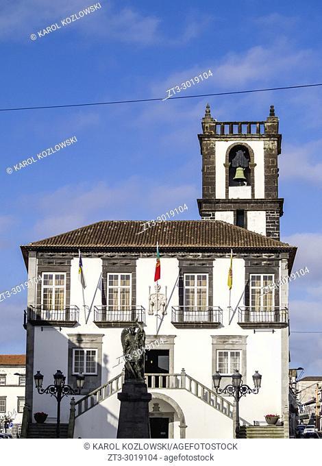 City Hall, Ponta Delgada, Sao Miguel Island, Azores, Portugal