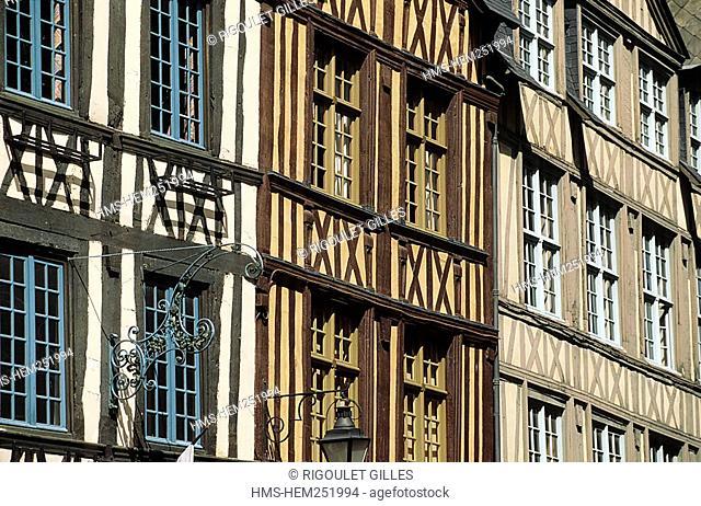France, Seine Maritime, Rouen, Rue Eau de Bolbec