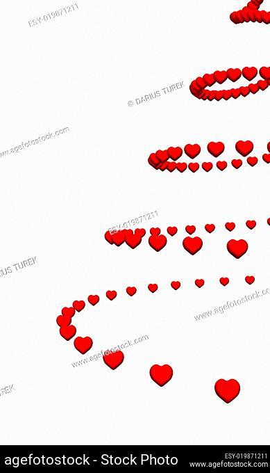 3D Herz Spirale