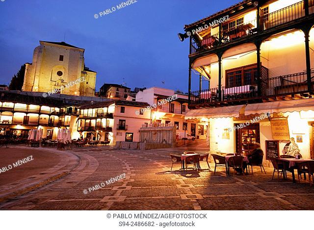 Main square of Chinchon, Madrid, Spain