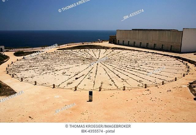 Sundial, Fortaleza de Sagres, Algarve, Portugal