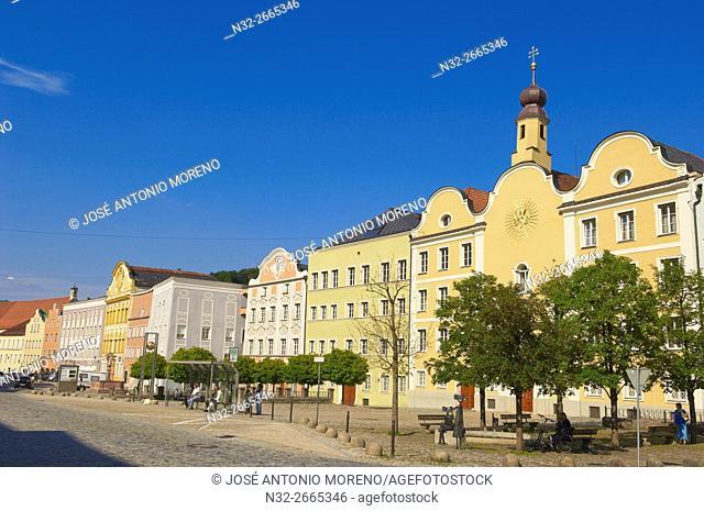 Burghausen, Old Town, Altötting district, Upper Bavaria, Bavaria, Germany