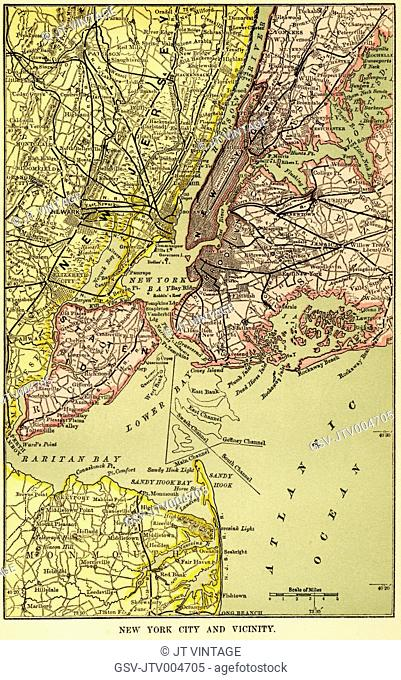 New York and Vicinity Map