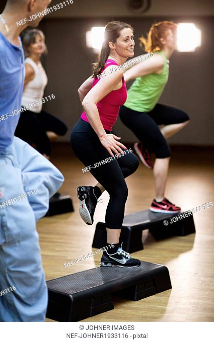 People at aerobics classes